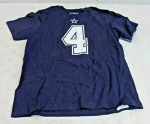 Dallas Cowboys Shirt Jersey Dak Prescott #4 Youth Medium 10/12 NFL