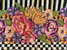 Stunning Piece of Embroidered Floral Mackenzie Childs Retired Fabric For Pillow