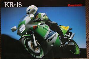 Kawasaki KR-1S 1990 model brochure. Perfect condition.
