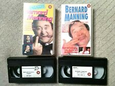 Bernard Manning - VHS Video Tapes x2 - Ungagged & Shootin' From The Lip!