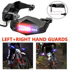One Pair Motorcycle Hand Guards Board W/ Lights Windproof Windshield Hand Cover