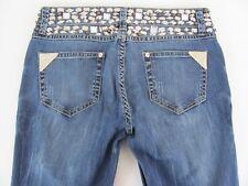 Virgin Only Jeans Womens Size 28 (28 x 33) Skinny Rhinestone Embellished NWT