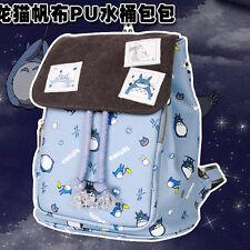 New Fashion Anime Totoro PU Printing Backpack School Bag Handbag Women Girl Gift