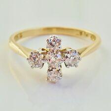 Stunning Vintage 18ct Gold Diamond (0.50ct) set Cruciform Ring c1940's