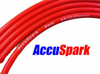 AccuSpark 8mm Red Double Silicone Carbon Ignition HT lead, wire on roll ,