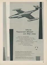 1952 Alcoa Aluminum Ad Northrop F-89 Scorpion Jet Fighter Mid Century Graphics
