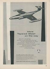1952 Alcoa Aluminum Ad Northrop F-89 Scorpion Jet Fighter Mid Century Graphics