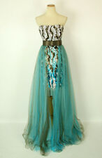 NEW JOVANI GENUINE 172207 Brown/Turquoise Prom Dress Evening Gown Size 0