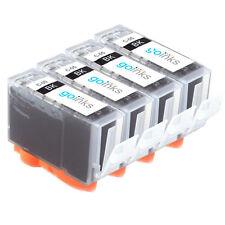 4 Cartouche d'encre Noire (PGI) pour Canon Pixma iP4200 iX4000 MP600 MP830 MX850