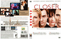 DVD FILM THRILLER MOVIES,CLOSER,JULIA ROBERTS JUDE LAW CLIVE OWEN intrigo,amanti
