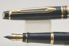Waterman Expert MKII Medium Fountain Pen, Black with Gold Trim