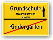 Ortsschild - Bild - Abschied Kindergarten - Grundschule - Einschulung - Deko