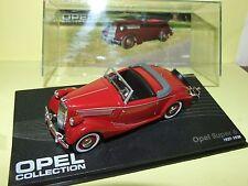 OPEL SUPER 6 Bordeaux 1937-38 Bleu IXO 1:43