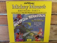Mickey And The Beanstalk Mouse's Birthday Party LP Record Album Vinyl