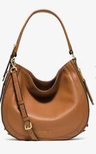 NWT! Michael Kors Julia Medium Leather Shoulder Bag/Crossbody Bag in Acorn Brown