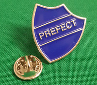 BNIB Brooch Shield Shape Old School Blue /' PREFECT /' Enamelled Badge