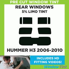 Pre Cut Window Tint - Hummer H3 2006-2010 - 5% Limo Rear