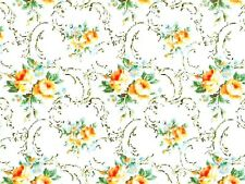 1:12 scale Dolls House Wall Paper Yellow Flowers PP233