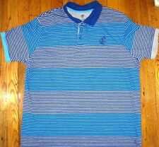 ROCAWEAR Men's  Polo shirt Blue Striped 2XL