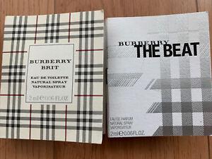 Auth Burberry Brit The Beat EDP EDT Spray Eau De Parfum Sample 2 Set Mini