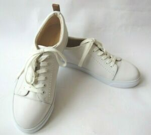 Clarks Cushion Soft Glove Echo White Leather Lace Up Trainers Shoes Size 6D