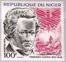 NIGER 1974 439 307 125th Death Ann Frederic Chopin Polish Eagle Componist MNH