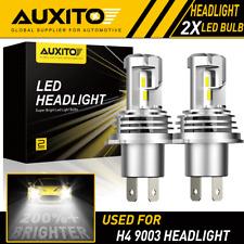 2X AUXITO H4 9003 LED Headlight Bulbs Kit Hi/low beams Bulb 6500K 24000LM M3 EOA
