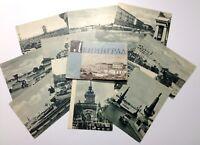 Vintage Postcards 1958 USSR Leningrad - LOT 12 pcs Russia Soviet photos