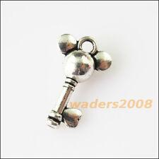 35 New Head Heart Key Tibetan Silver Tone Charms Pendants 11x18mm