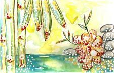 BAMBOO WATERCOLOR  - GREAT DEAL ON ORIGINAL ART - NO SHIPPING
