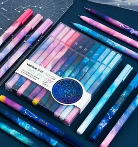 Cute Gel Pens Constellation Pen 0.5mm Black Ball Point For School Office 12pcs
