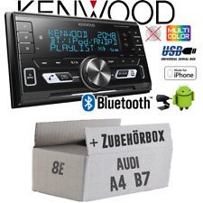 KENWOOD AUTORADIO PER AUDI a4 b7 Concert 2din/Bluetooth/USB/VARIOCOLOR Kit installazione