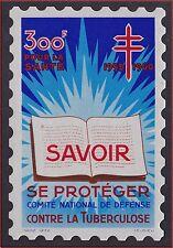 Gde VIGNETTE 300F DEFENSE contre la tuberculose** Se protéger ,1959 cinderella