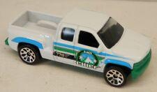 Matchbox 1999 Chevrolet Silverado Pickup Truck 3-Door White Forestry Chief 1/76