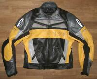 RICHA Herren- Kombi- Motorrad- Lederjacke / Jacke in schwarz- gelb ca. Gr. 48/50