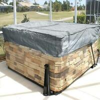 Polyester fabric Hot Tub Spa Cover Waterproof Dust Square Case Outdoor Protector