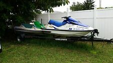 2 Jet Skis and boat trailer