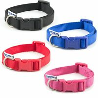 Ancol Nylon Adjustable dog Collar Red Blue Black 3 sizes ( Pre Order only )