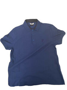 Versace Collection Navy Blue Polo Shirt Men Size L 🚨READ!