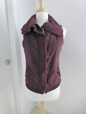 Citizens of Humanity Burgundy Cotton Women's Vest Top Medium