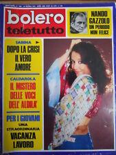BOLERO Teletutto n°1364 1973 Sabina Ciuffini Marina Coffa Ursula Andress [G685A]
