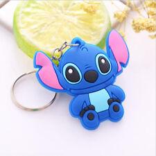 lovely Cartoon pvc soft silicone car key ring keychain NEW Free Shipping Stitch