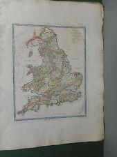 100% ORIGINAL ENGLAND PHYSICAL  MAP BY J ANDREWS C1797 ORIGINAL COLOUR