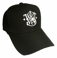 Smith Wesson Baseball Hat / BLACK /Adjustable Back OSFM / PreCurved Baseball Cap