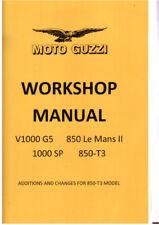 Moto Guzzi V1000, 1000SP, 850-T3  850 LE MANS II Workshop Manual and Parts List