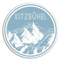 2 x 10cm Kitzbuhel Austria Vinyl Stickers - Ski Sticker Laptop Luggage #18911