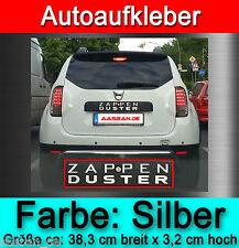 """AUTOAUFKLEBER STICKER """"ZAPPEN"""" FÜR DEINEN DACIA DUSTER (ALLE MODELLE) FUN TUNING"""