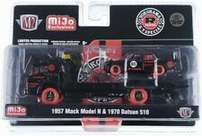 Chase 1957 MACK N FLATBED TRUCK & 1970 DATSUN 510 #65 1/64 M2 39200-MJS02