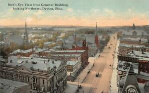 CONNOVER BUILDING VIEW LOOKING NORTHWEST DAYTON OHIO POSTCARD (1917)
