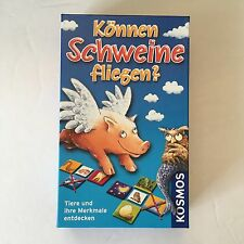 Kosmos KONNEN SCHWEINE FLIEGEN? German Version Animal Card Game -- Complete CIB